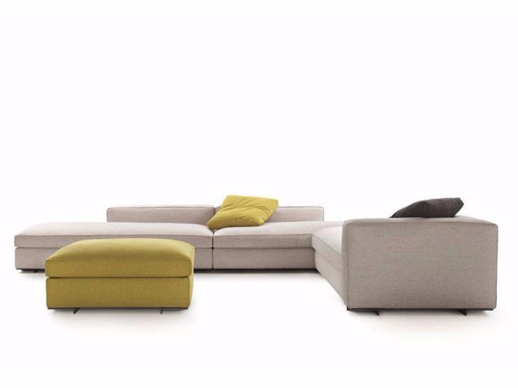Divano componibile in tessuto SNAP by Lema design Francesco Rota