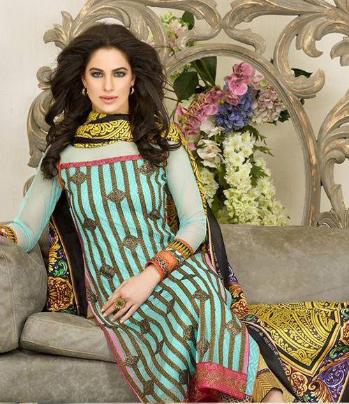 Asim Jofa Luxury Lawn Eid Collection 2015 AJL_2A