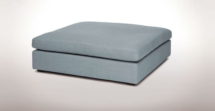 Cube Glacier Blue Ottoman - Sectionals - Article | Modern, Mid-Century and…