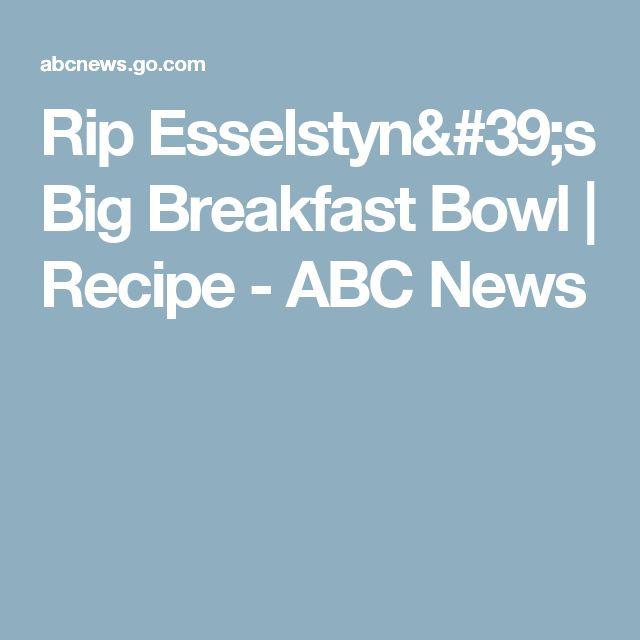 Rip Esselstyn's Big Breakfast Bowl | Recipe - ABC News