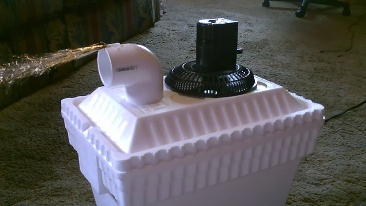Homemade AC Air Cooler DIY - Can be Solar Powered! - Home/Auto Air cooler 40F Air! - 12VDC Fan