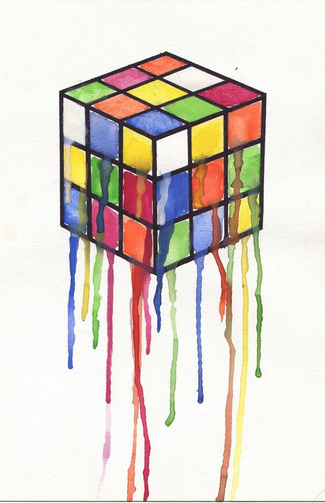 Rubik's watercolor