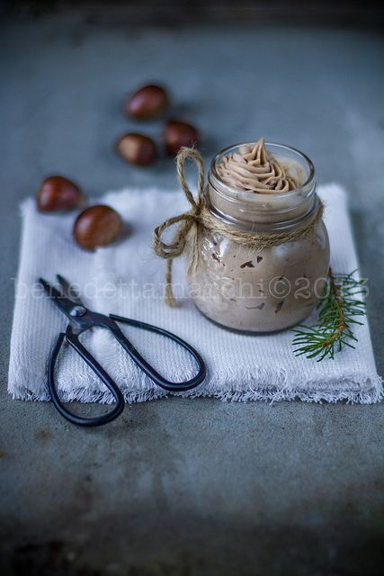 mousse di castagne e vaniglia
