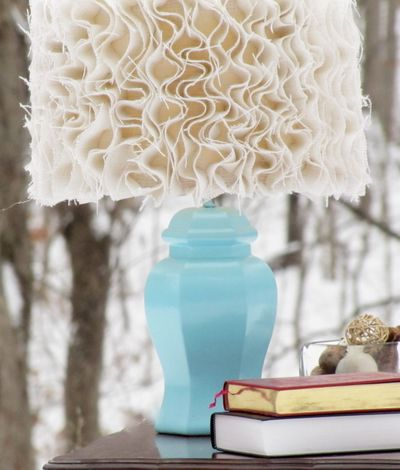 Ruffled Burlap Lamp Shade