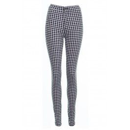 Kelly Black And White Gingham High Waisted Skinny Jean BUY IT NOW ONLY £20 AT www.fuchia.co.uk