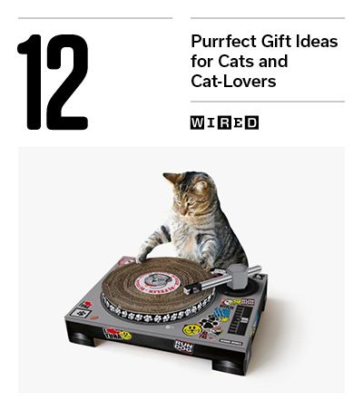 Here are gift ideas for that feline fancier that would make perfect holiday gifts. The cats might even like them too. (Pictured: Suck UK DJ Deck, $35)