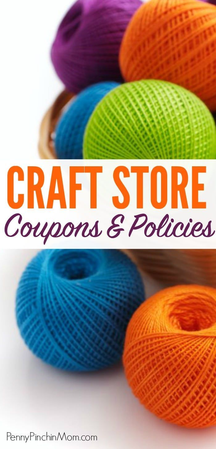 Save money on your craft supplies by finding craft store coupons for Michael's, JoAnn, and Hobby Lobby.  Get the most recent coupon policy and find out which stores happens to price match and those that will even accept competitor's coupons - even for a discount off your entire purchase!!  Hobby Lobby coupons | JoAnn coupons | Michaels coupons | craft store policies | coupon policies | store coupons  #CraftStoreCoupons #Couponpolicies #HobbyLobby #Michaels #JoAnn