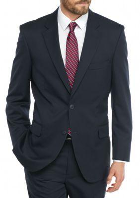 Saddlebred  Big  Tall Navy Herringbone Suit Separate Coat