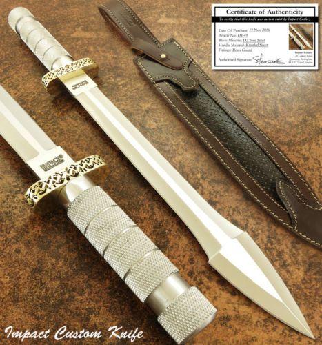 Влияние-столовые приборы-редкая-таможня-Д2-большие-массивные-кинжал-нож-меч-насечкой-алюминий