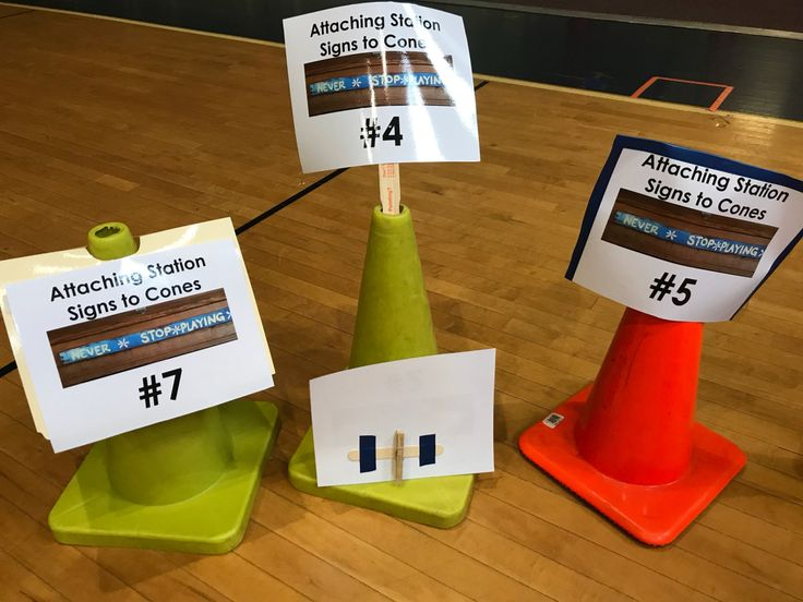 "Are you like me? Have you been searching for the best way to label your stations in PE class? ""What is the best method for attaching signs to cones?"" I recently proposed that very quest…"