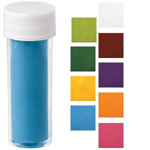 Color Dust    Give your fondant decorating that added dash of color!    Gives flowers a deep matte finish in rich colors. Use dry or mix with Wilton Imitation Clear Vanilla Extract or Lemon Extract.