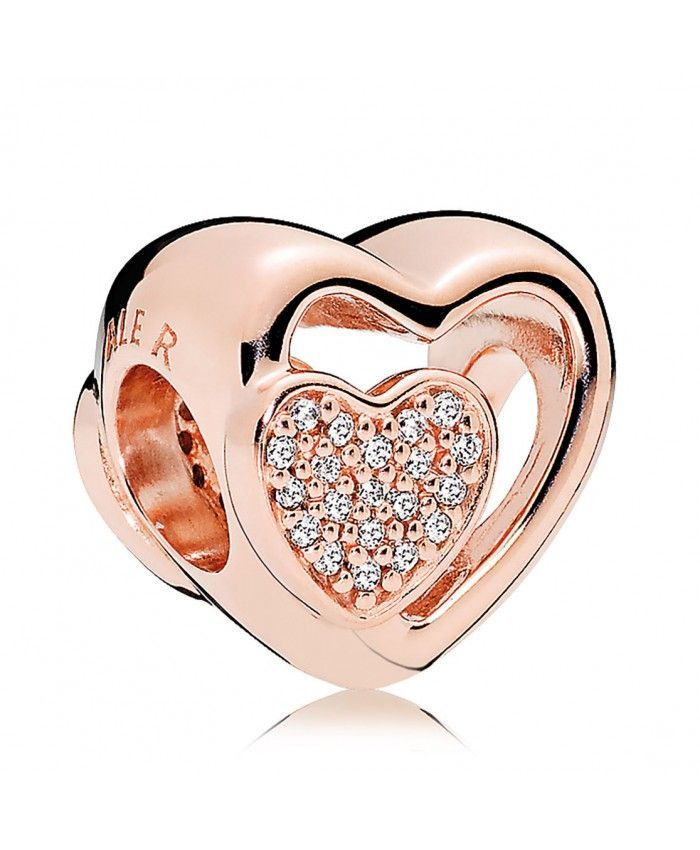 9a4bf6ed9 >>>Pandora Jewelry 60% OFF! >>>Visit>> PANDORA Rose™ Clear CZ Joined  Together Charm #fashion
