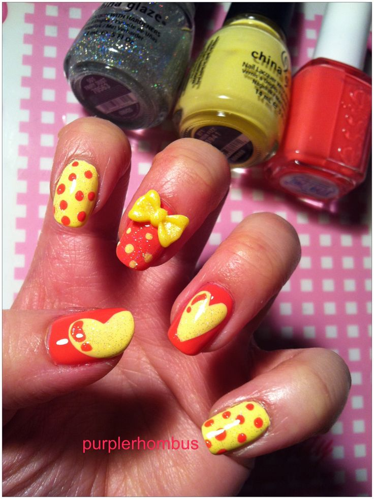 funky valentine nails