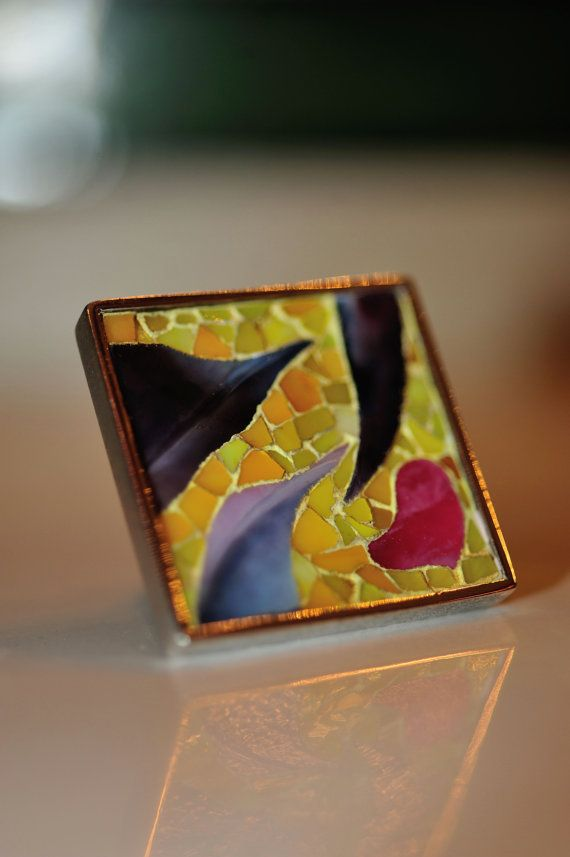 MOSAIC from the HEART   Bold Ring set in by oceanandmorejewels