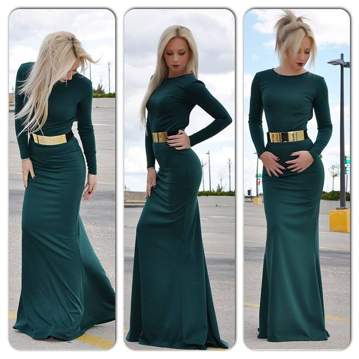Fabulous Maxi Dress by Diamond Creations, available in black, green, navy and bordeaux, only 79,90€.