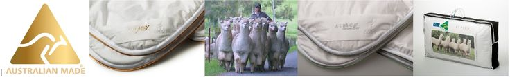 Kelly and Windsor Australia manufactures beautiful alpaca bedding