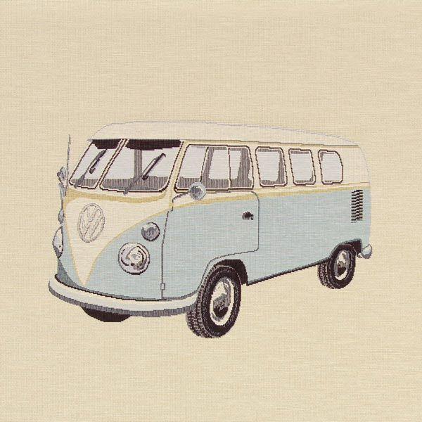 Docięty gobelin Niebieski VW Bulli