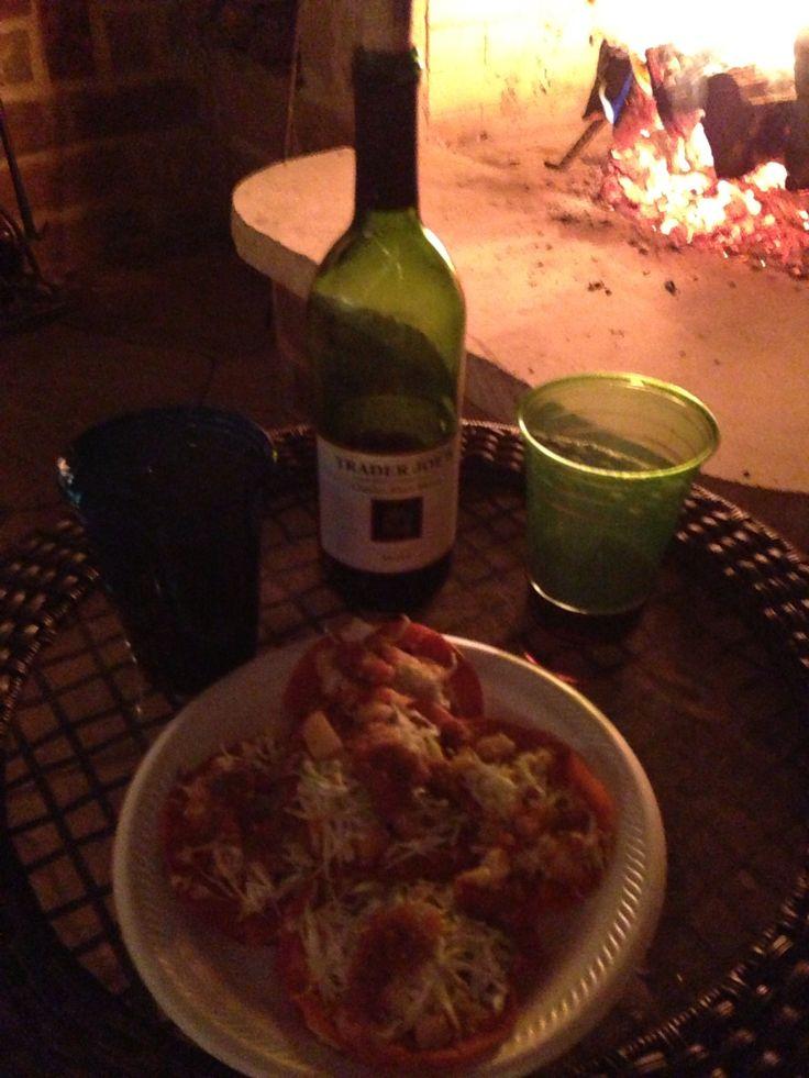 Enchiladas Potosinas & vino