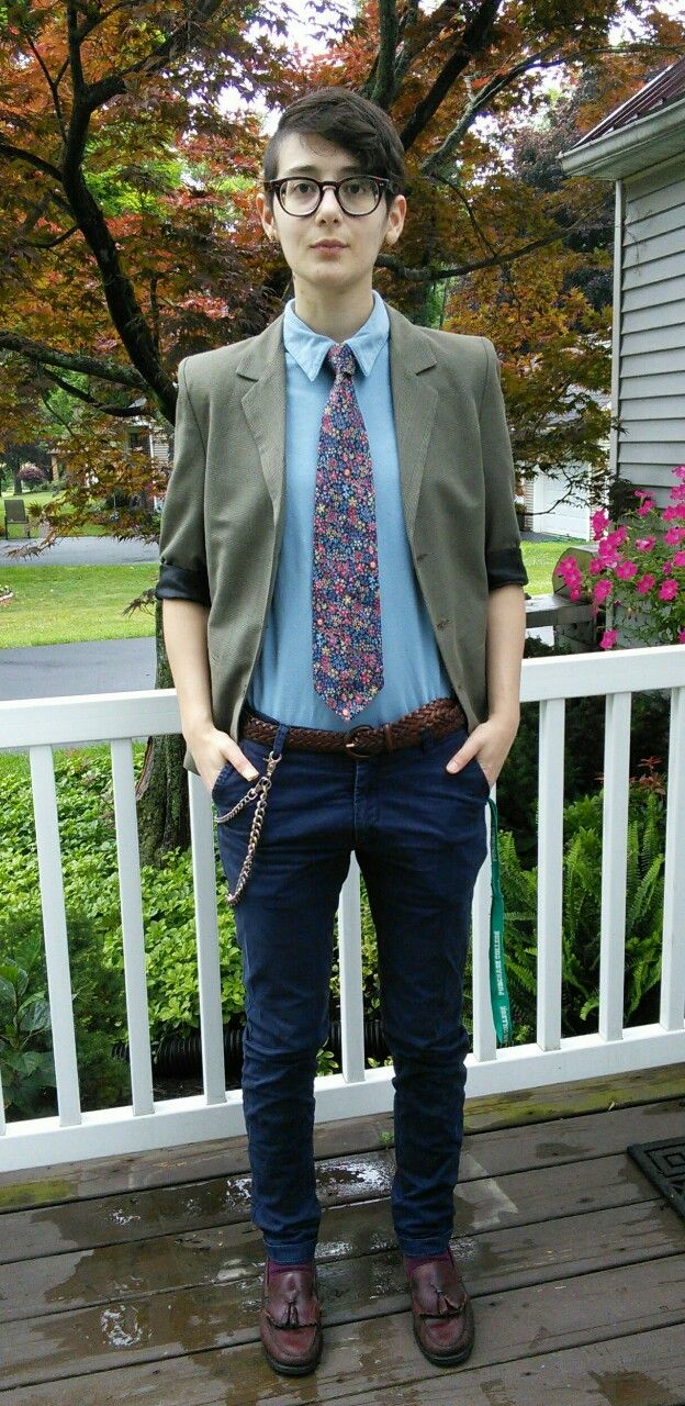 "my-fathers-shoes: ""Shoes: Bass Weejuns from Amvets thrift store Socks: Club Room from some department store Pants: H&M men Belt: Unknown brand from the Goodwill thrift store Shirt: Forever 21 polo Tie: Stafford from Amvets thrift store Jacket:..."