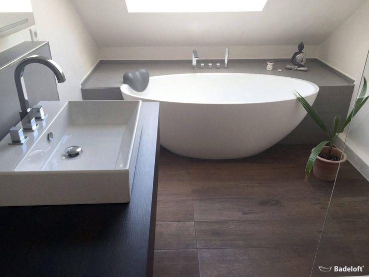 Freestanding mineral cast bathtub bw-04-xl: modern from badeloft gmbh – manufacturer of bathtubs and sinks in berlin, modern