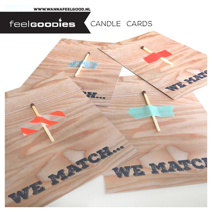 We Match Candle Cards. http://www.wannafeelgood.nl/a-39436818/liefde/we-match/