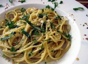 Spaghetti al Limone (Lemon Spaghetti)--take me back to Italy! love basil and spagetti noodles