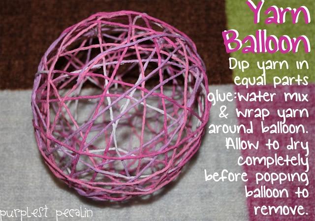 Purplest Pecalin: Yarn Balloons