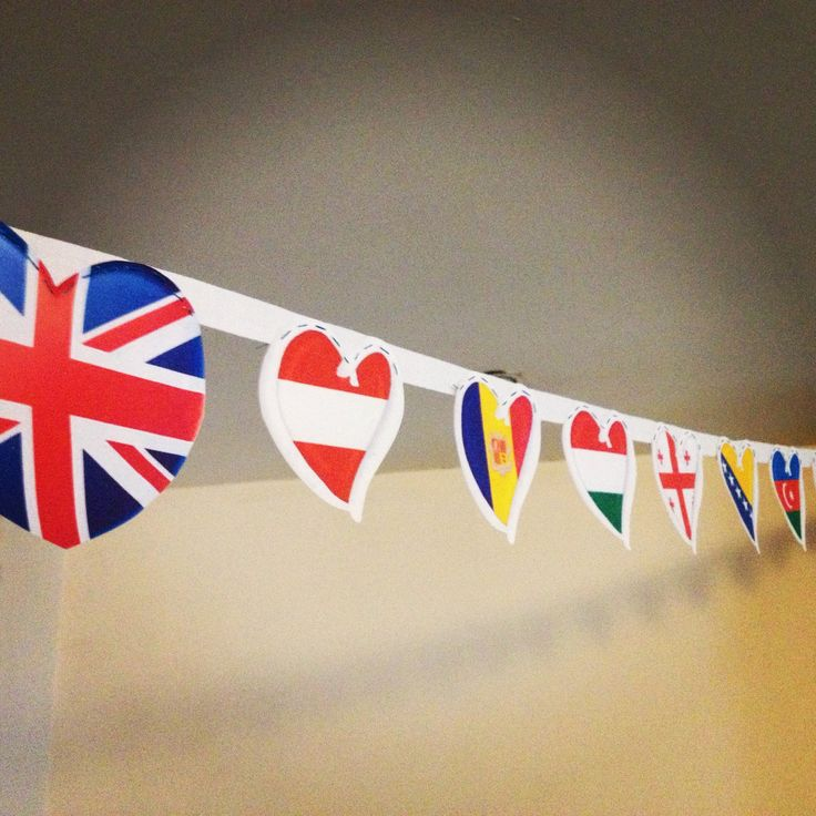 Bunting I made for my friends Eurovision Party this year!!!