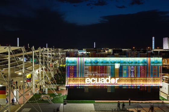 Vorhang auf für die Expo 2015: KriskaDECORs architektonische Fassaden aus Metallketten  #design #architecture @KriskaDECOR