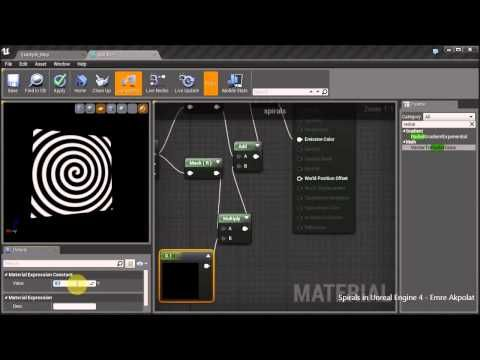 Spirals in Unreal Engine 4 Material Editor - YouTube
