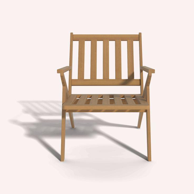 Coco-Mat, Wooden Arm Chair Ilios
