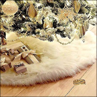 faux fur tree skirt - Google Search