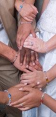 Interracial Family. Mom, mom in law, sister in law, bride, Grandma,  grandma in law