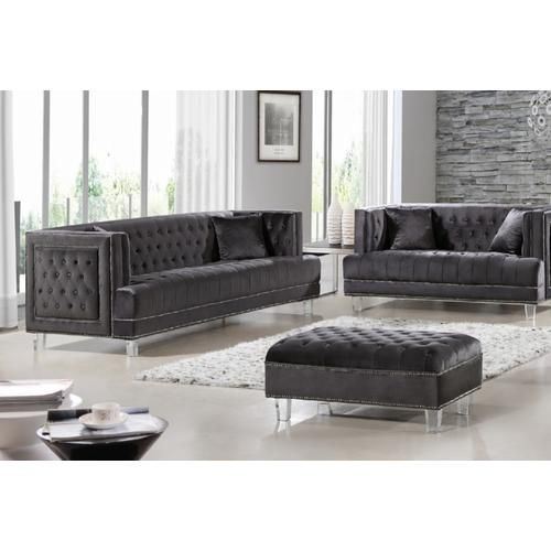 Esofa Contemporary Design Gray Velvet Upholstery Tufted Living Room 3pc Sofa Set Sears Remodeling Pinterest And