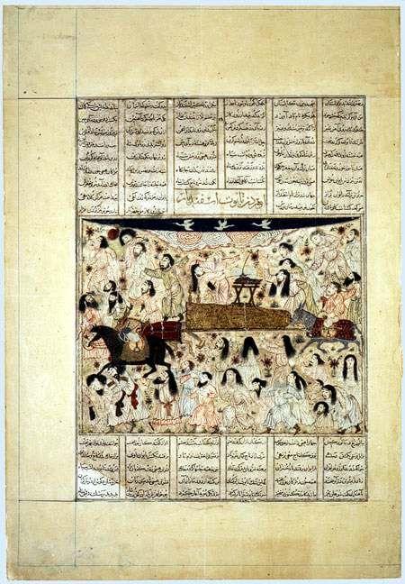 Mongol manuscript folio 1330s Tabriz - Mongol manuscript folio 1330s Tabriz Isfandiyar's funeral Metropolitan Museum of Art, New York. Joseph Pulitzer Bequest 1933