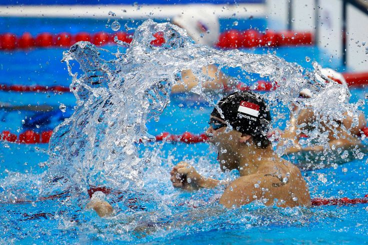 Needs no schooling for sure:   Joseph Schooling of Singapore celebrates winning gold in the Men's 100m Butterfly Final on Day 7 of the Rio 2016 Olympic Games in Rio de Janeiro on Aug. 12
