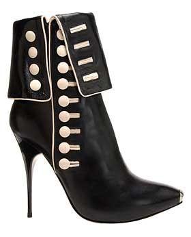 Alexander McQueen Side-Button stiletto boot