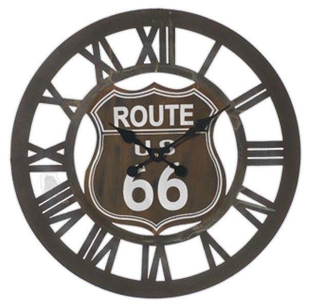 orologio in ferro scuro con numeri romani intagliati route 66 Shabby chic, vintage, urban, country...