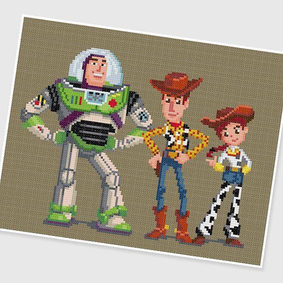 PDF Cross Stitch pattern : Toy Story