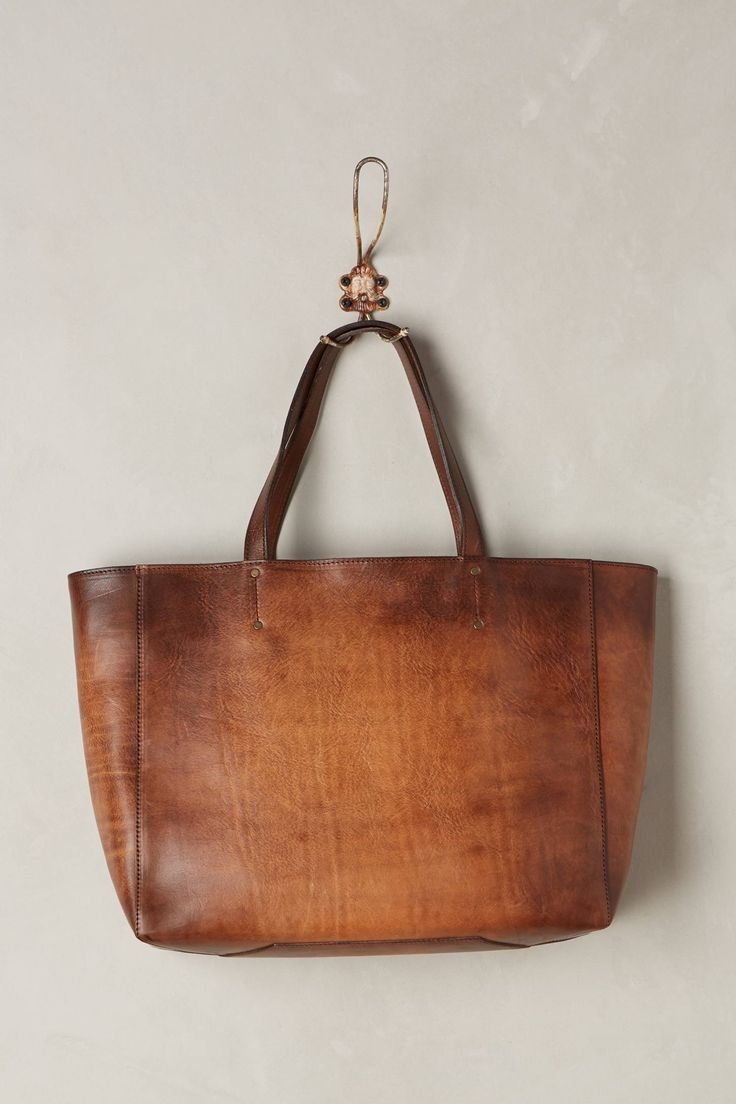 Burnished Leather Tote