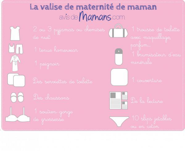 La valise de la maternit de maman conseils de mamans outils pratiques avis de mamans - Couche maternite pour maman ...
