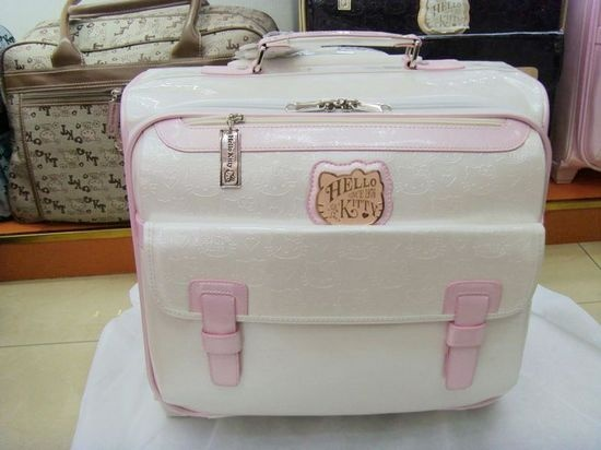 Hello kitty luggage 16 computer trolley luggage travel bag mini female suitcase white on AliExpress.com. $76.14