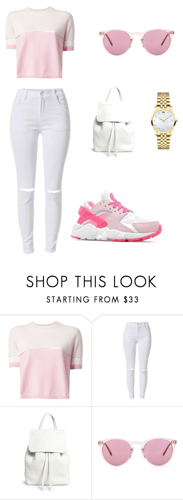 """Untitled #20"" by efemenauvo ❤ liked on Polyvore featuring Fendi, Mansur Gavriel, Oliver Peoples and Movado"
