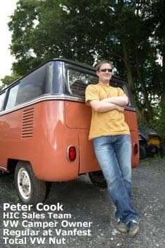 vw camper insurance - Peter and his camper