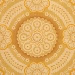Vintage retro geometric wallpaper from the '70s