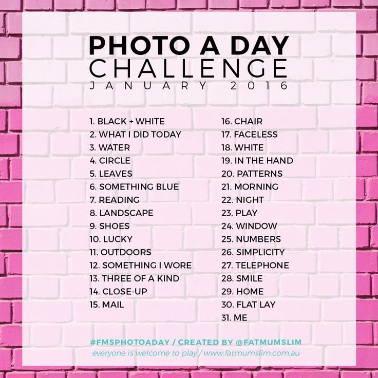 Photo A Day Challenge // Might not do this is January because it's already been, but I'll start soon