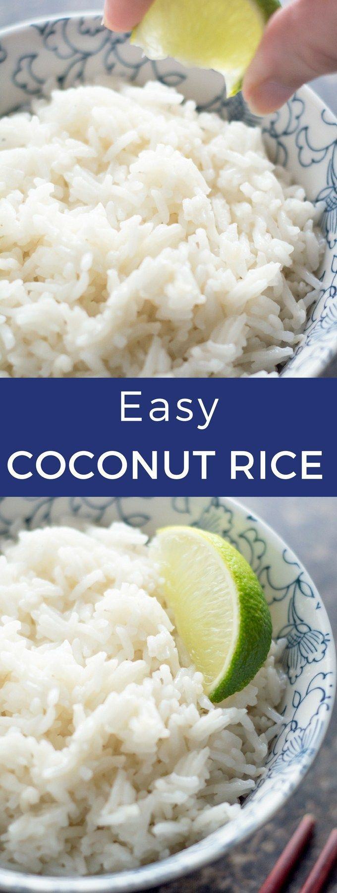 This Easy Coconut Rice takes only 5 ingredients and is ready in just over 20 minutes. Pair it with stir fry, chicken, or salmon for a quick weeknight dinner for one.