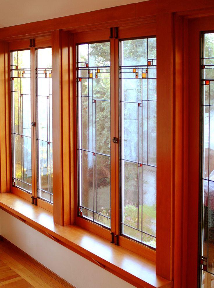 Prairie School windows - by Theodore Ellison Designs
