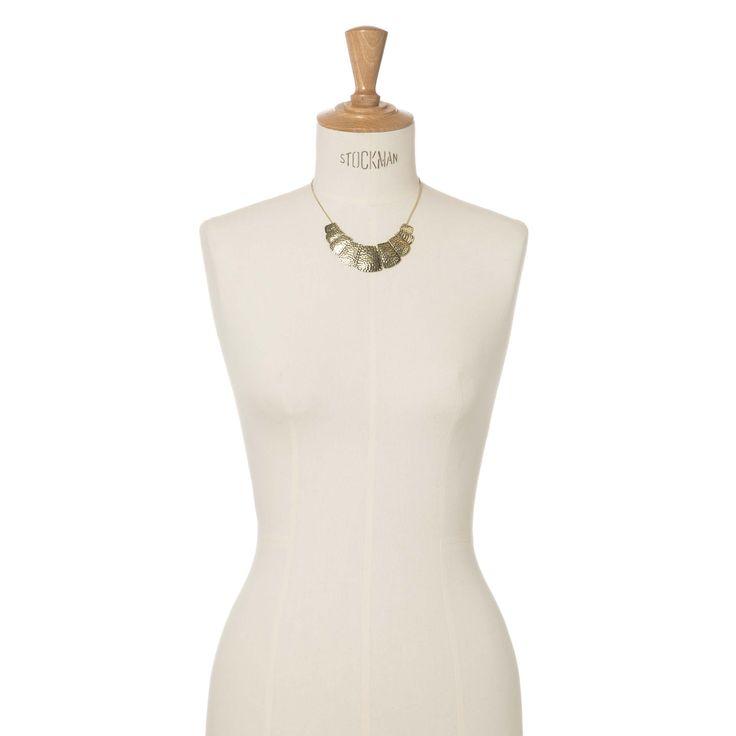 Korte halsketting met rechthoekjes | Veritas