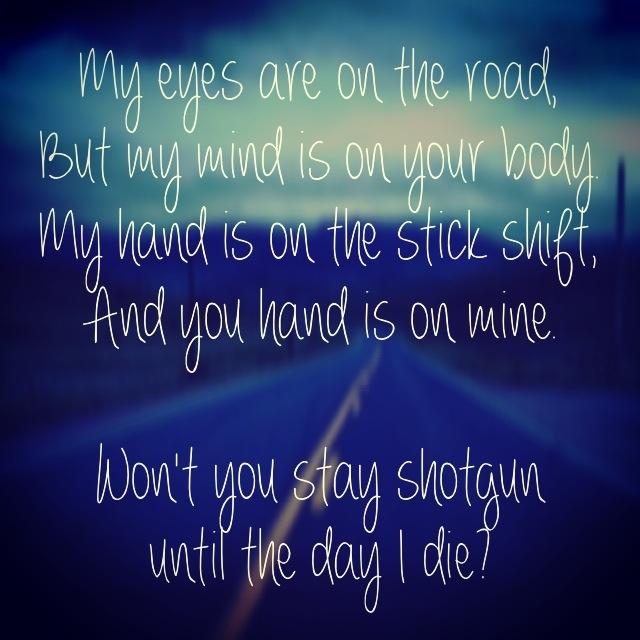 Walk the Moon lyrics Stick shift ;-)